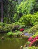 Portlandzki japończyka ogród w wiośnie fotografia stock