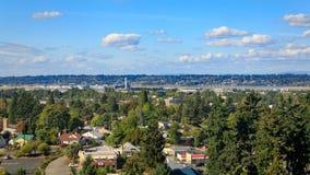 Portlandzki linia horyzontu widok od groty w Portland obraz royalty free