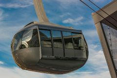 Portlandzki niebo tramwaj Obraz Stock