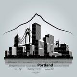 Portlandzki pejzażu miejskiego wektor Ilustracja Wektor