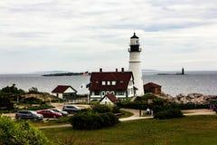 Portlandzki reflektor lokalizować w przylądku Elizabeth, Maine fotografia stock
