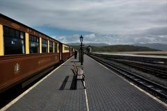 Portmadog-Bahnstation Stockfotos