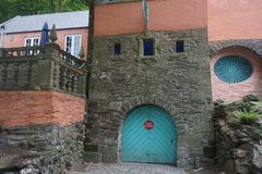 Portmeirion位于北部威尔士的消防局 免版税库存图片