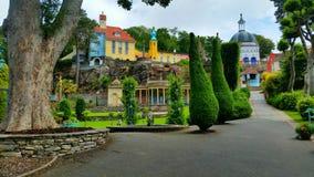 Portmeirion庭院 库存图片
