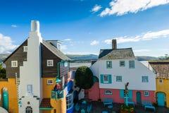 Portmeirion村庄,北部威尔士 免版税库存照片