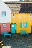 Portmeirion街道,北部威尔士 免版税库存图片