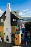 Portmeirion建筑学,北部威尔士 免版税库存照片