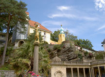 Portmeirion Central Piazza North Wales Royalty Free Stock Images