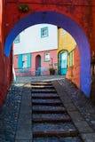 Portmeirion gata, norr Wales Arkivfoto