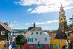Portmeirion by, norr Wales Arkivbilder
