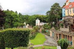 Portmeirion País de Gales, arquitectura y edificios Imágenes de archivo libres de regalías