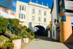 Portmeirion street, North Wales Stock Images