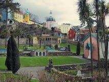Portmeirion trädgårdar Arkivbilder
