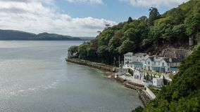 Portmeirion, UK - 09 27 2018: Various scenes from around the village of Portmeirion in Wales royalty free stock photos