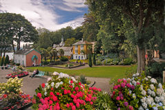 Portmeirion Village. The peaceful garden setting of Portmeirion Village is a fine place to relax on summer days Royalty Free Stock Photos