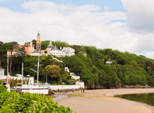 Portmeirion village and beach, Wales Royalty Free Stock Image