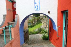 Portmeirion Wales, architecture and buildings. Stock Image