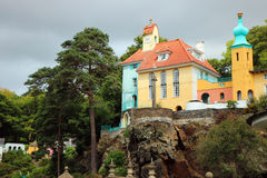 Portmeirion Wales, architecture and buildings. Royalty Free Stock Photos