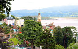 Portmeirion Wales, architecture and buildings. Stock Photography