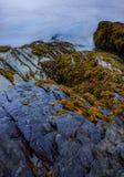 Portmeirions-Küste, langfristige Belichtung Lizenzfreies Stockbild