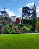 Portmeiriontuin - Gwynedd, Wales, het UK Royalty-vrije Stock Foto's
