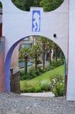 Portmerion庭院在威尔士 免版税库存照片