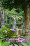 Portmerion庭院在威尔士 库存图片