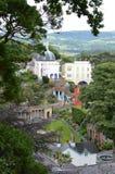Portmerion村庄在威尔士 库存照片