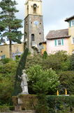 Portmeriontuinen in Wales royalty-vrije stock afbeelding