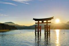 portmiyajima tori Arkivfoton