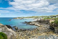 Portnablagh harbour royalty free stock image