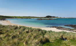 Portnaluchaig beach Scotland uk near Arisaig Scottish Highlands beautiful white sandy beach Scottish tourist destination. Located south of Mallaig Stock Photography