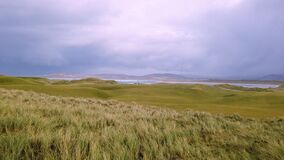 The Portnoo and Narin Golf links during the storm in County Donegal - Ireland