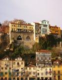 Porto: één van de hun straten Royalty-vrije Stock Foto's