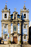 Porto. Church with azulejos (tiles), Porto, Douro Province, Portugal royalty free stock image