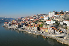 Porto. View at the city of Porto situated on the north bank of the river Douro in Portugal Royalty Free Stock Image