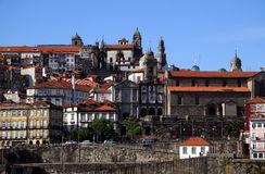 Porto 5. Portugal Porto The historical Ribeira of the Douro River - UNESCO World heritage site royalty free stock image
