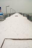 Porto actualizado em Pomorie, Bulgária, inverno Imagem de Stock Royalty Free
