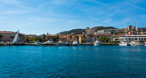Porto of the Ajaccio city. Smal porto in the Ajaccio city, Corsica stock photo