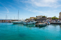Porto of the Ajaccio city. Smal porto in the Ajaccio city, Corsica stock photography