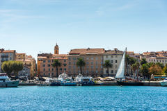 Porto of the Ajaccio city. Smal porto in the Ajaccio city, Corsica royalty free stock images