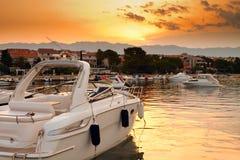 Porto al tramonto Fotografie Stock Libere da Diritti