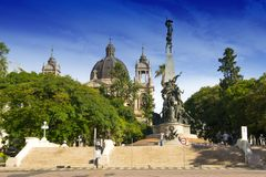 Porto Alegre, Brazi: el Júlio de Castilhos Monument al centro del cuadrado Praça DA Matriz, Porto Alegre de Matriz, foto de archivo libre de regalías