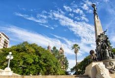 Porto Alegre, Brazi: el Júlio de Castilhos Monument al centro del cuadrado Praça DA Matriz, Porto Alegre de Matriz, foto de archivo