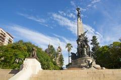 Porto Alegre, Brazi: o Júlio de Castilhos Monumento ao centro do quadrado Praçà Dinamarca Matriz de Matriz, Porto Alegre, foto de stock