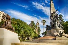 Porto Alegre, Brazi: o Júlio de Castilhos Monumento ao centro do quadrado Praçà Dinamarca Matriz de Matriz, Porto Alegre, imagens de stock