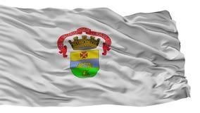 Porto Alegre City Flag, Brasilien, lokalisiert auf weißem Hintergrund lizenzfreie abbildung