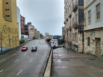 Porto Alegre City. Streets of Porto Alegre Royalty Free Stock Photography