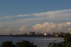 Porto Alegre linia horyzontu, Brazylia Zdjęcia Stock