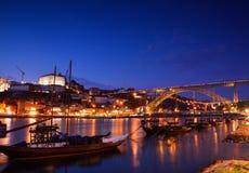 Porto, alte Stadtskyline mit dem Duero-Fluss Stockfoto